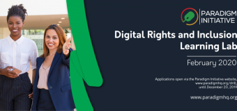 Paradigm Initiative Digital Rights and Inclusion Learning Lab (DRILL) Fellowship Program 2020