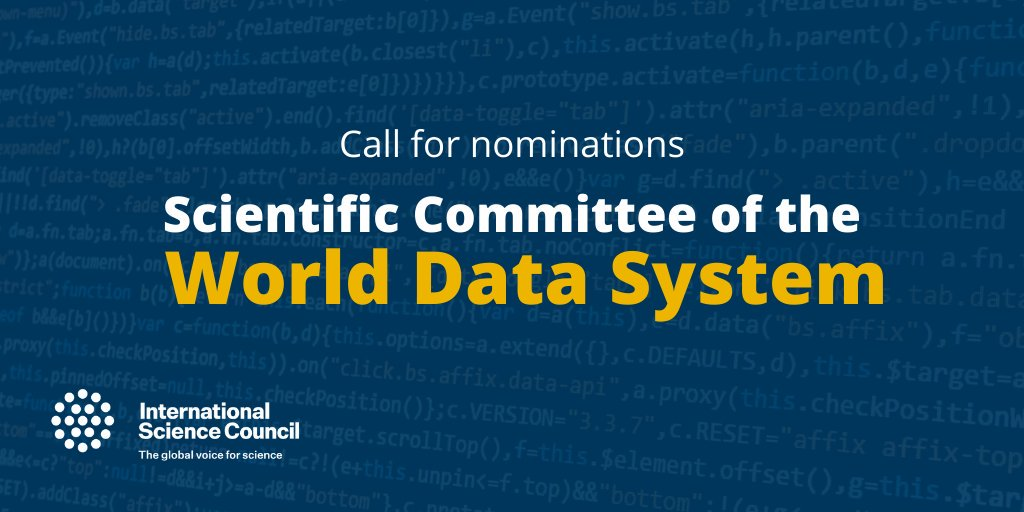 Call for nominations: Scientific Committee of the World Data System