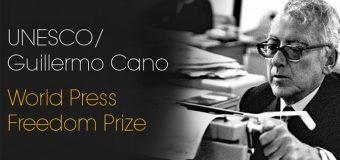 UNESCO/Guillermo Cano World Press Freedom Prize 2020 (US$25,000 prize)