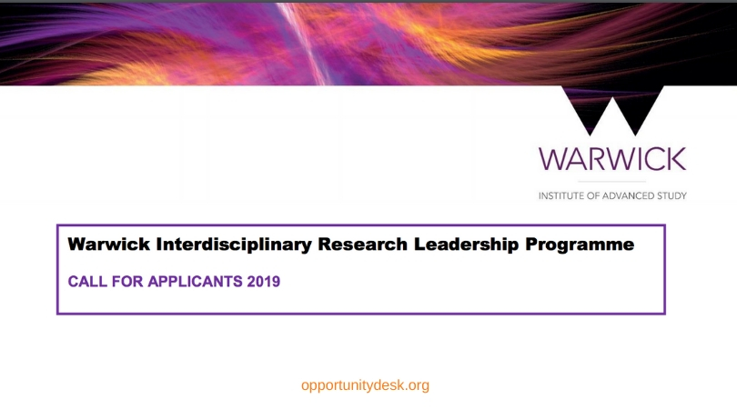 Warwick Interdisciplinary Research Leadership Programme – Call for Applicants 2019 (Funded)