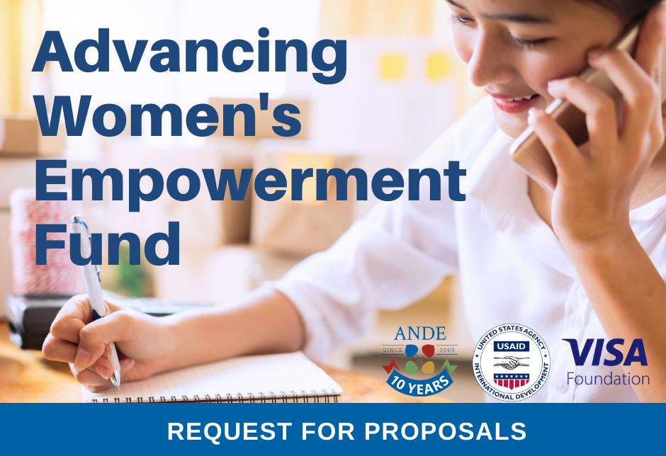 Request for Proposals: ANDE Advancing Women's Empowerment Fund 2020 for Women Entrepreneurs in Emerging Markets