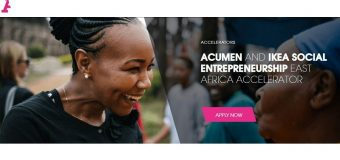Acumen/IKEA Social Entrepreneurship East Africa Accelerator 2020 (Up to $25,000 in seed funding)