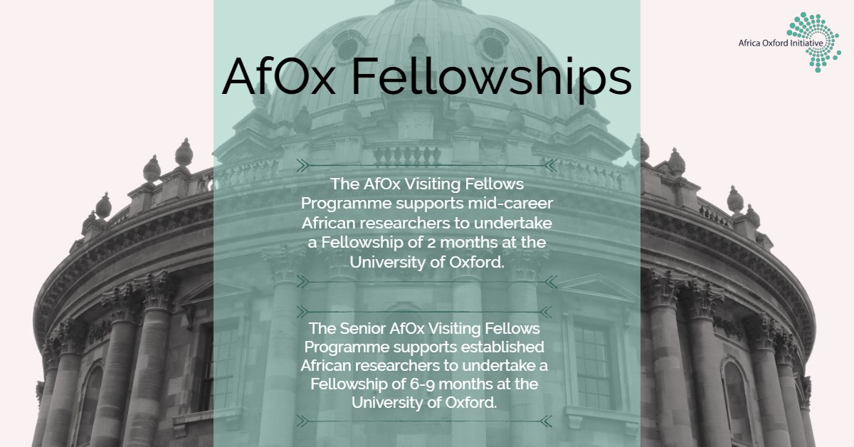 Senior AfOx Visiting Fellowship Programme 2020 for Researchers