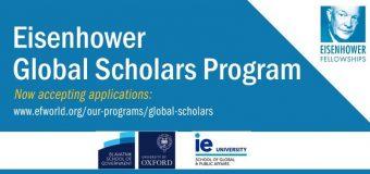 Eisenhower Global Scholars Program 2020/2021 for American University Graduates