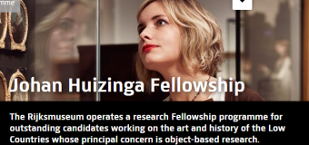 Johan Huizinga Fellowship for Historical Research 2020 (Funding available)