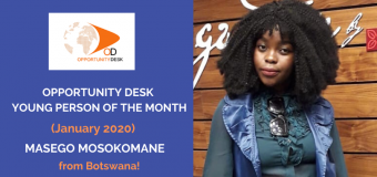 Masego Mosokomane from Botswana is OD Young Person of the Month for January 2020!