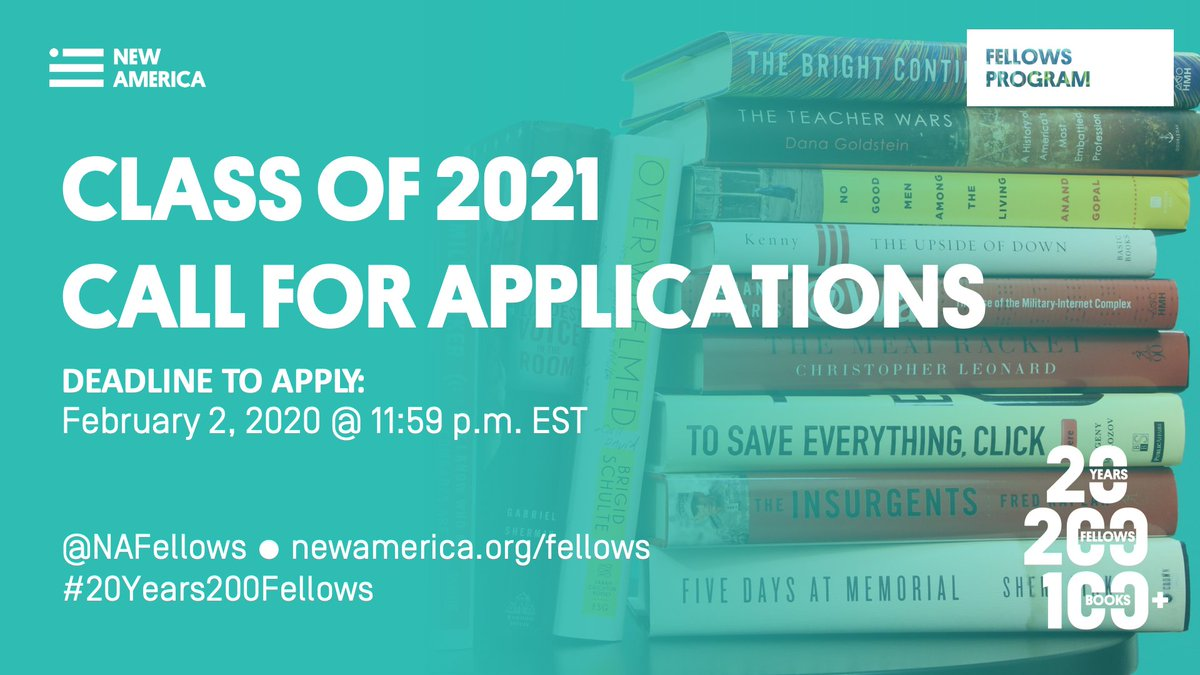 New America National Fellows Program 2021 for Thinkers worldwide (Funded)
