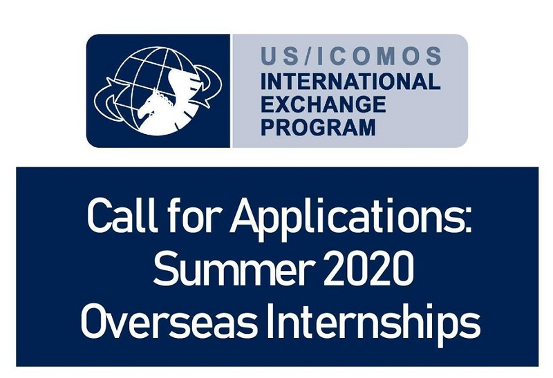 US/ICOMOS International Exchange Internship Program 2020 (Stipend available)