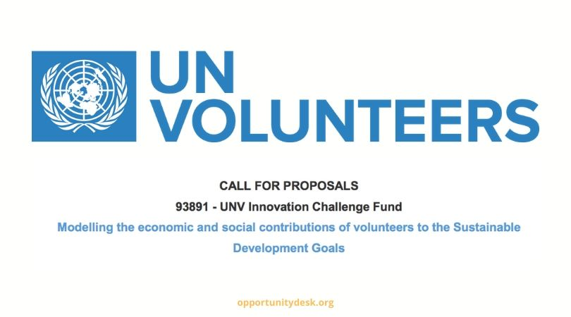 United Nations Volunteers (UNV) Innovation Challenge Fund 2020 ($15,000 Prize)