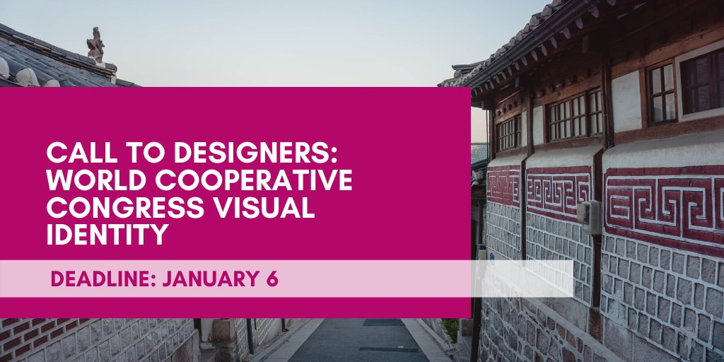 Call to Designers: World Cooperative Congress Visual Identity 2020 (Up to €5000)