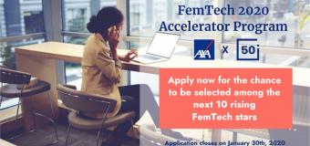AXA & 50intech Female Technology (FemTech) Accelerator Program 2020 for Startups Worldwide