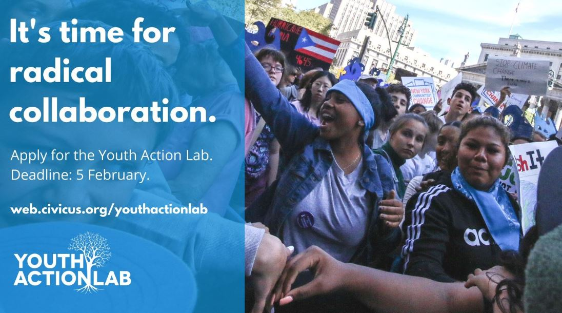 CIVICUS Youth Action Lab 2020 for Youth from the Global South (Fully-funded)