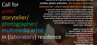 Civic Laboratory for Environmental Action Research (CLEAR) Artist-in-Residence Program 2020 (Stipend available)