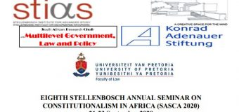 Call for Papers: Constitutional Identity and Constitutionalism in Africa – SASCA 2020