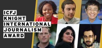 ICFJ Knight International Journalism Award 2020 for Journalists Worldwide (Funded to the US)