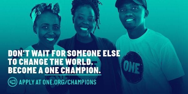 ONE Champion Program 2020 for Emerging Leaders in Ethiopia and Kenya