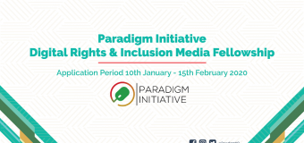 Paradigm Initiative Digital Rights and Inclusion Media Fellowship 2020 for Journalists (Funded)