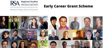 Regional Studies Association – RSA Early Career Grant Scheme 2020 (Up to £10,000)