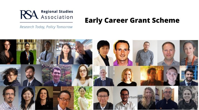 Regional Studies Association – RSA Early Career Grant Scheme 2020 (Up to £10,000)