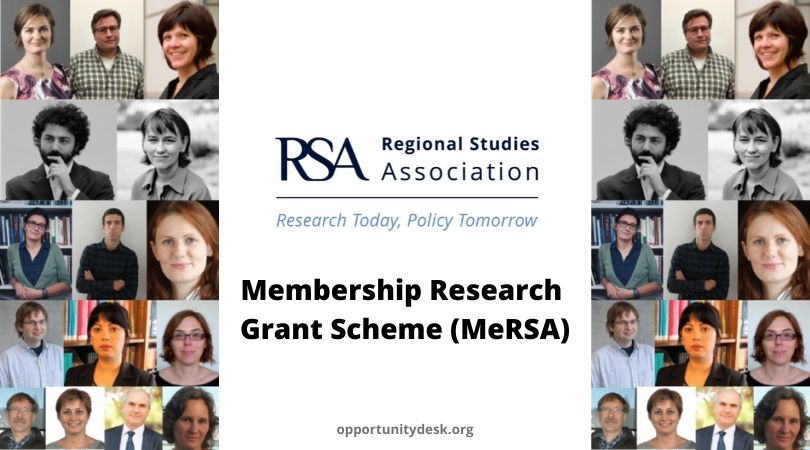 Regional Studies Association (RSA) Membership Research Grant Scheme 2020