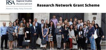 Regional Studies Association – RSA Research Network Grant Scheme 2020