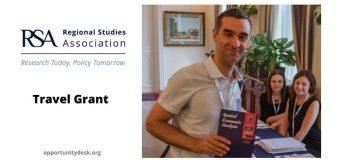 Regional Studies Association – RSA Travel Grant 2020