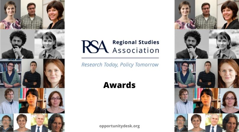 Regional Studies Association (RSA) Awards 2020