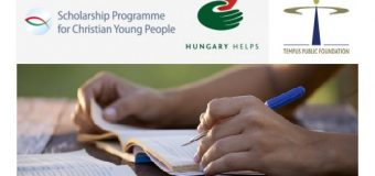 Tempus Public Foundation Scholarship Programme for Christian Young People 2020/2021 (Study in Hungary fully-funded)