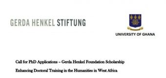 University of Ghana/Gerda Henkel Foundation Scholarship 2020/2021 (Funding available)