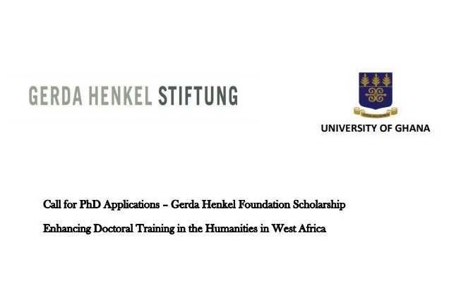 University of Ghana/Gerda Henkel Foundation Scholarship 2020/2021 (Funding available)