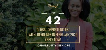 42 Global Opportunities with Deadlines in February 2020