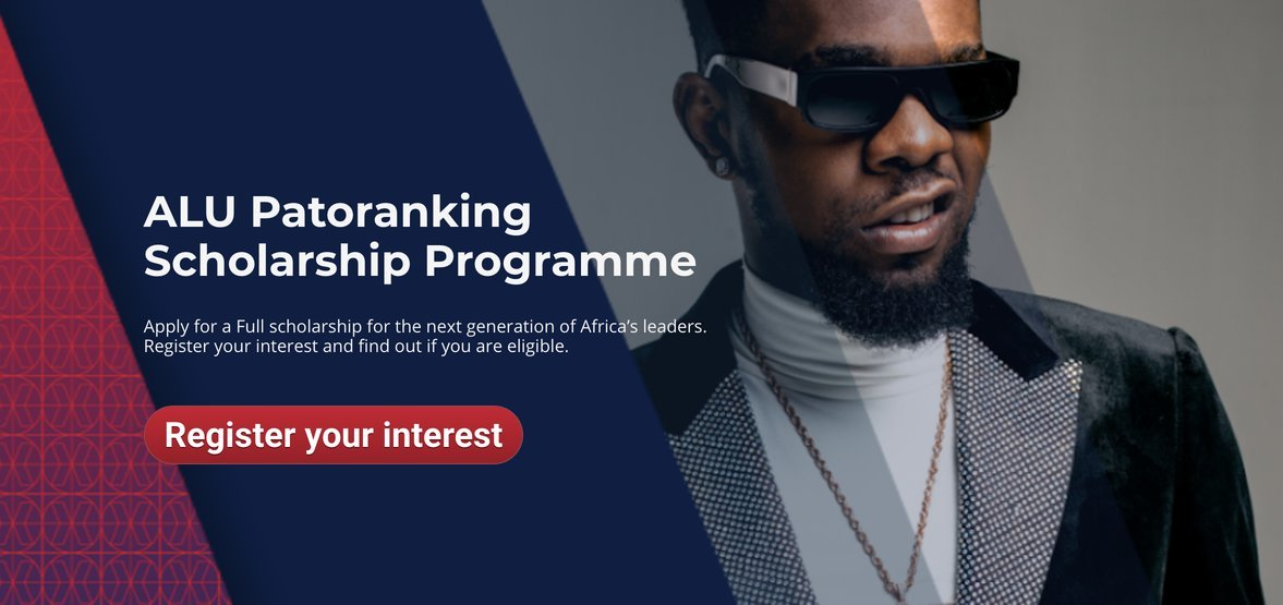 ALU Patoranking Scholarship Programme 2020 for Young African Leaders