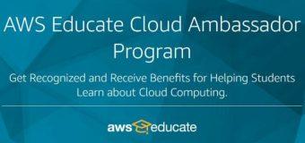 AWS Educate Cloud Ambassador Program 2020 for Educators Worldwide