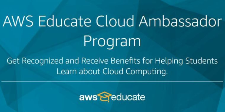 AWS Educate Cloud Ambassador Program 2020 for Educators Worldwide