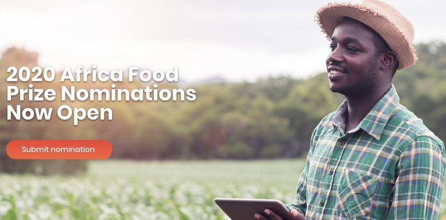 Africa Food Prize 2020 for Outstanding Individuals or Institutions (USD $100,000 prize)