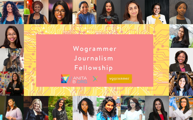 AnitaBorg Wogrammer Journalism Fellowship 2020 (Stipend of $1,500)