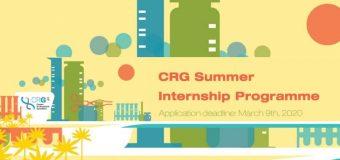 Center for Genomic Regulation (CRG) Summer Internship Program 2020 for Undergraduate and Masters Students (Paid)