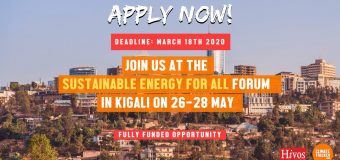 Climate Tracker/Hivos Fellowship 2020 for African Journalists to attend the Sustainable Energy for All Forum in Rwanda (Fully-funded)