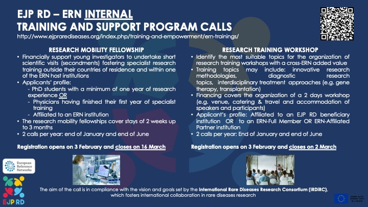 ERN RD Research Mobility Fellowship Program 2020 for Physicians and PhD students (Funding available)