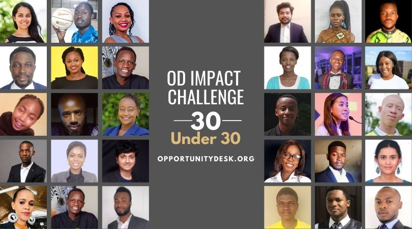 Announcing the 1st Class of OD Impact Challenge 30 Under 30 Changemakers!