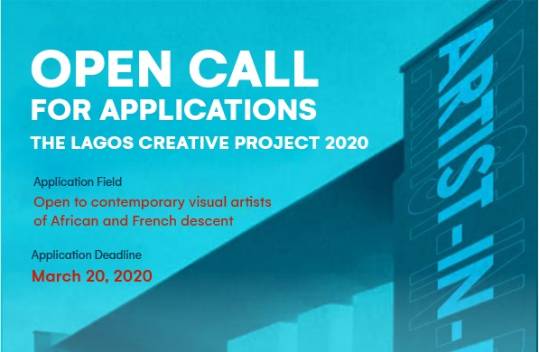 The Lagos Creative Project 2020 Artist Residency Programme for Visual Artists of African and French Descent (Stipend available)
