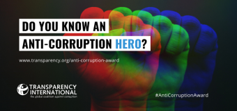 Transparency International Anti-Corruption Award 2020 for Individuals and Organisations Worldwide