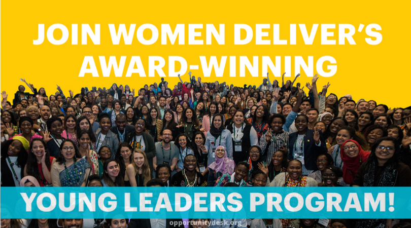 Women Deliver Young Leaders Program 2020 for Young Advocates (Fully-funded)