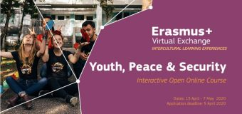 ERASMUS+ Virtual Exchange 2020 Youth, Peace and Security Online Course