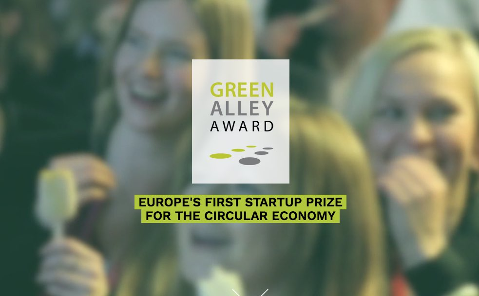 Green Alley Award 2020 for Circular Economy Startups in Europe (€25,000 prize)