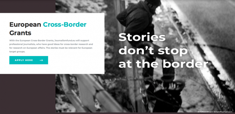 Journalismfund European Cross-Border Grants for Journalists 2020 (Round 3)