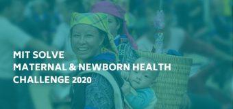 MIT Solve – Maternal & Newborn Health Challenge 2020 ($10,000 grant)
