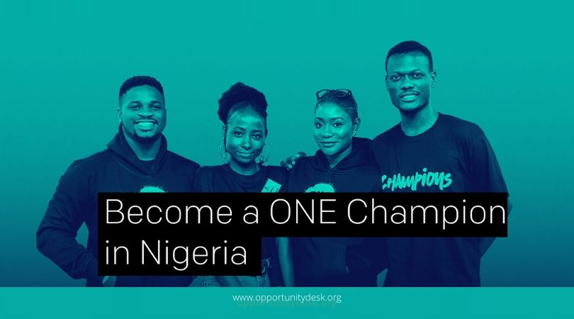 ONE Champions Program 2020 for Emerging Leaders in Nigeria