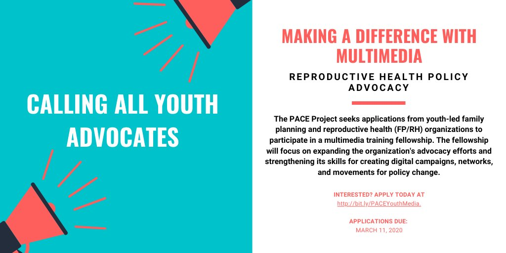 PACE Training Fellowship 2020 for Reproductive Health Policy Advocacy (Funded)