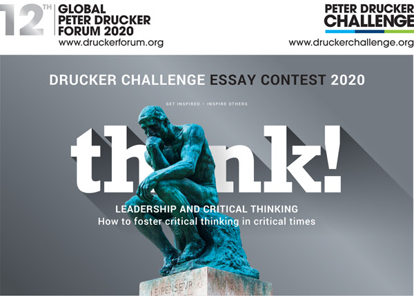 Peter Drucker Challenge Essay Contest 2020 for Students and Young Professionals